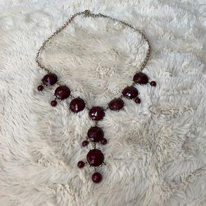 Garnet/maroon bubble necklace